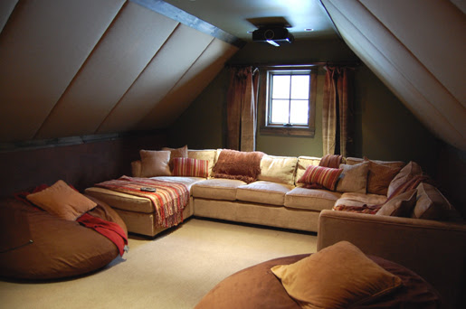 Cool Homes: Tight Attic Space Transformed into Theater, by Arlen ...