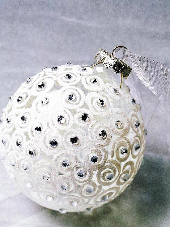 white swirl ornament