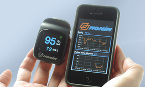 NoninConnect 3230 Bluetooth Smart Pulse Oximeter Pairs with iPhones, iPads | Medgadget
