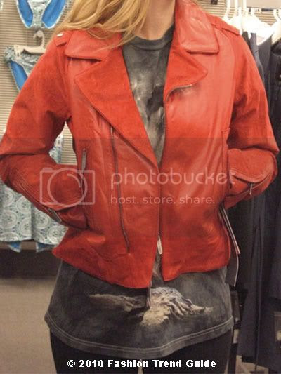 Zac Posen for Target red leather jacket
