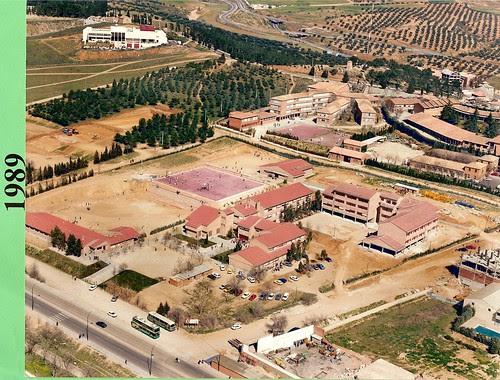 Vista aérea de los terrenos del Colegio de Infantes en 1989