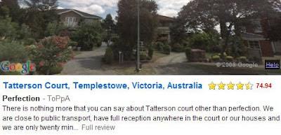 screen shot of streetadvisor
