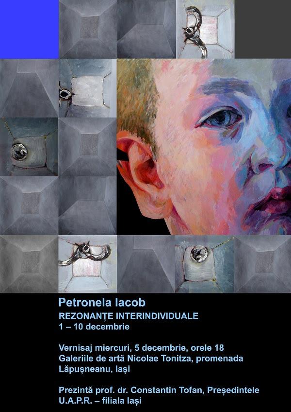 "afis mic Expozitia ""Rezonante Interindividuale""   Petronela Iacob/ 1   10 decembrie"