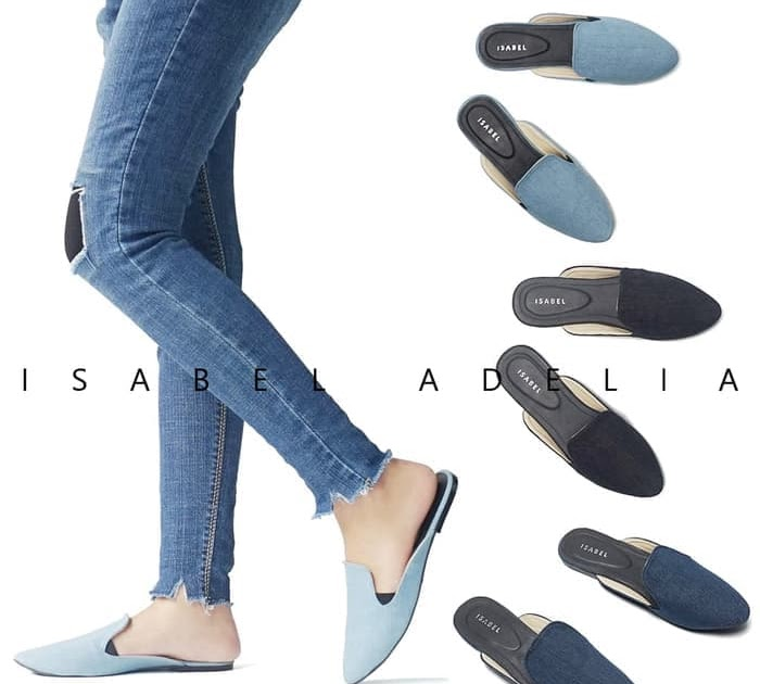 PENAWARAN Isabel TARI Sandal Wanita Sendal Selop Flat Loafers Teplek Murah 81221bd80f