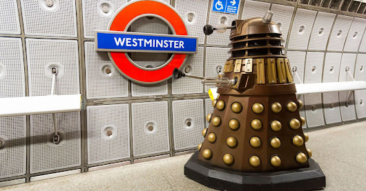 London commuters terrorized by sinister 'Doctor Who' Daleks