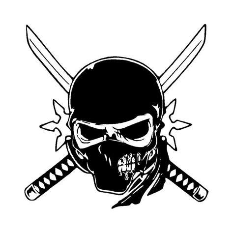 cm unique ninja skull car stickers personalized