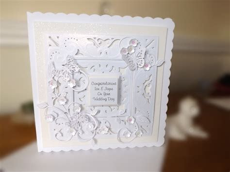 Wedding card .Crafters Companion Diesire 'Create a Card