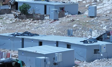 Illegal Arab construction funded by the EU