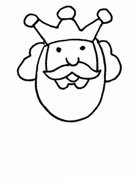 Caraderey Dibujo De La Cara De Un Rey Con Una Corona De Tres Picos