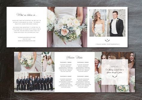 Template Trifold Pricing Guide ~ Brochure Templates