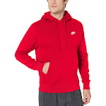 Nike Sportswear Club Fleece Pullover Hoodie Size S (Red/University Red) BV2654-657