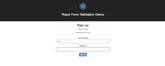 How to do Simple Form Validation in #Reactjs