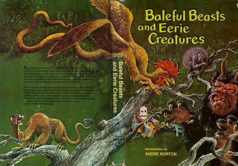 "Rod Ruth - Cover Illustration From ""Baleful Beasts and Eerie Creatures"" 1976 (1)"