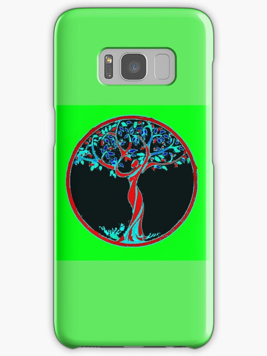 'celtic tree sesign' Samsung Galaxy Case/Skin by 2jDUBCrastions1
