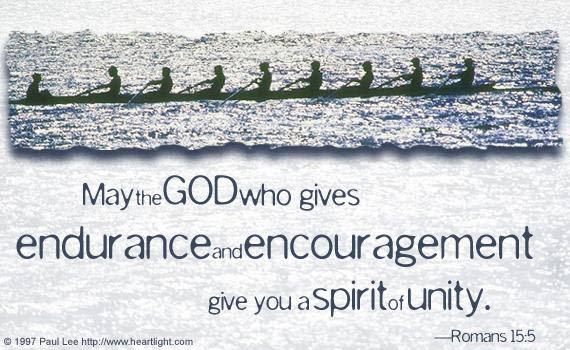 Inspirational illustration of Romans 15:5