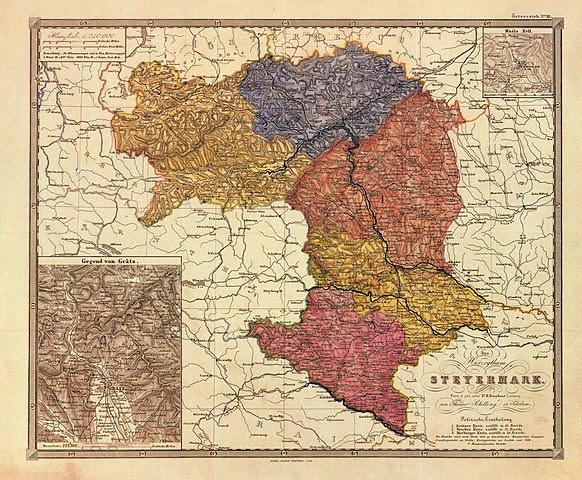 Historische Karte der Steiermark