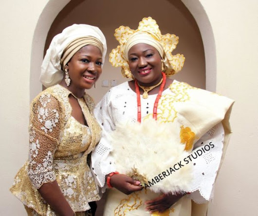 Susan Peters Makes a Statement in 2 Gold Outfits at her Air Force Sister's Wedding | Photos of Desmond Elliot & More