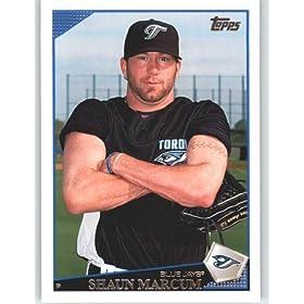 2009 Topps Baseball Card # 617 Shaun Marcum - Toronto Blue Jays - Shipped In Protective Screwdown Display Case!