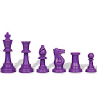 "Purple Club Plastic Chess Pieces with 3.75"" King - 17 Piece Half Set"