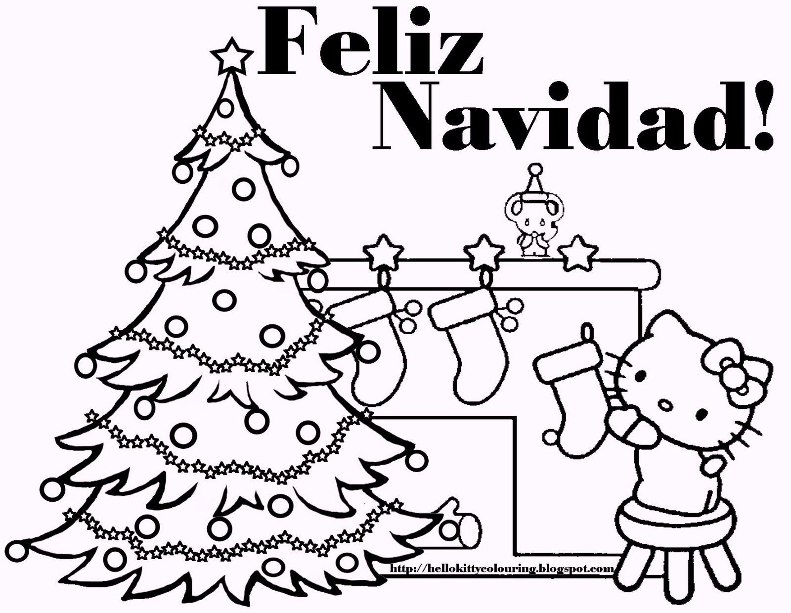 spanishchristmasfeliznavidadcoloringpages