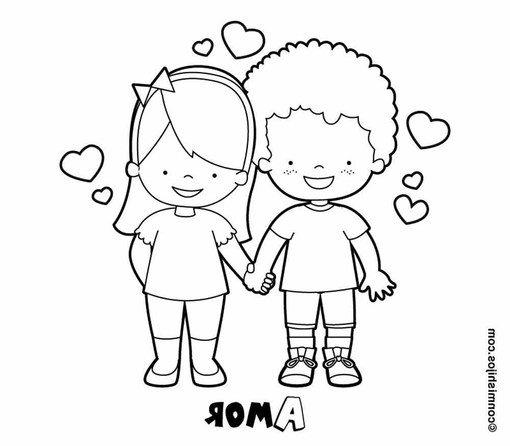 Novios Enamorados Para San Valentin Plntilla Para Dibujar Dibujo