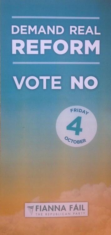 Fianna Fail veranderde van mening over de afschaffing van de senaat en vraagt nu om 'echte hervormingen'