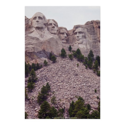 Mount Rushmore's Four Poster