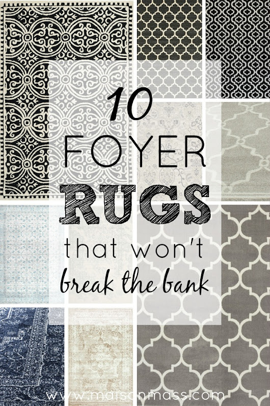 10 Foyer Rugs That Won't Break the Bank • Maison Mass