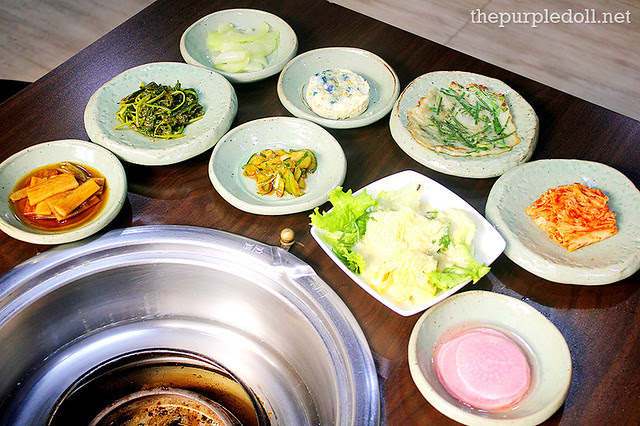 Banchan at Masil Charcoal Grill Restaurant
