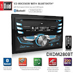 Dual Electronics DXDM280BT 5.5 in. Dual Double Din AM FM Tuner CD Player Bluetooth USB Aux MP with LCD Remote White