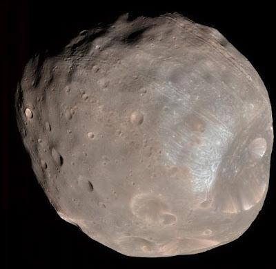 Luna Fobos de Marte captada por la nave MRO