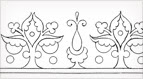 Decorative Border for Hand Embroidery: Free Pattern