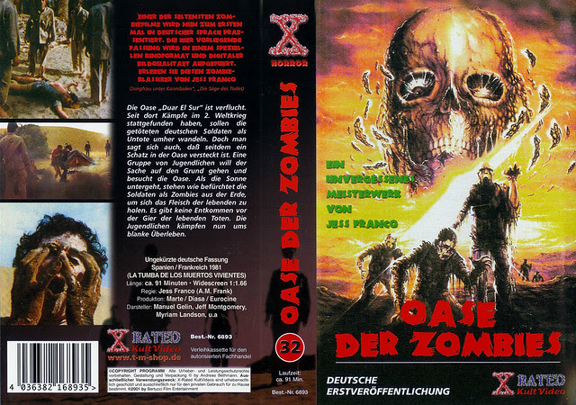 Oasis Of The Zombies (cover 2) (VHS Box Art)