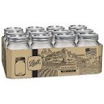 Jarden Home Brands 220729 Ball Pint Smooth Jar 12 Per Pack