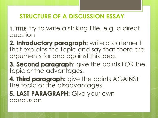how to write a good discussion essay