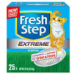 Fresh Step 30623 Extreme Odor Control Scoopable Scented Litter, 25 Lb