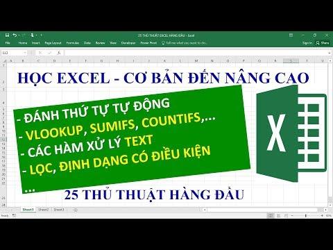 Excel tự học từ cơ bản đến nâng cao giúp bạn thành thạo kỹ năng quan trọng nhất trong công việc
