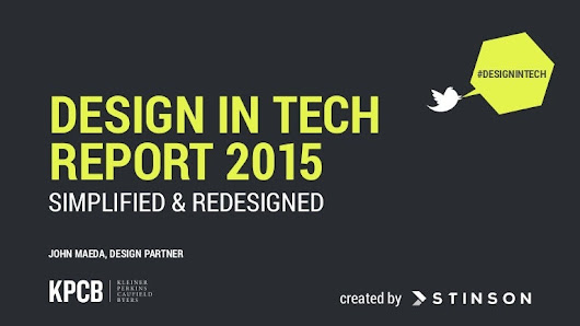 KPCB Design in Tech Report 2015: Simplified and Redesigned