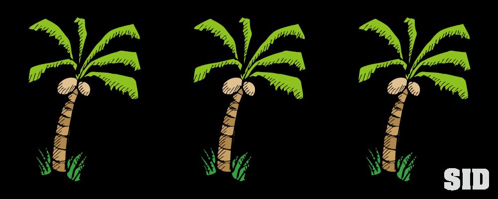 ヤシの木の手書き風イラスト 無料配布南国イラスト Ai Epsイラレ