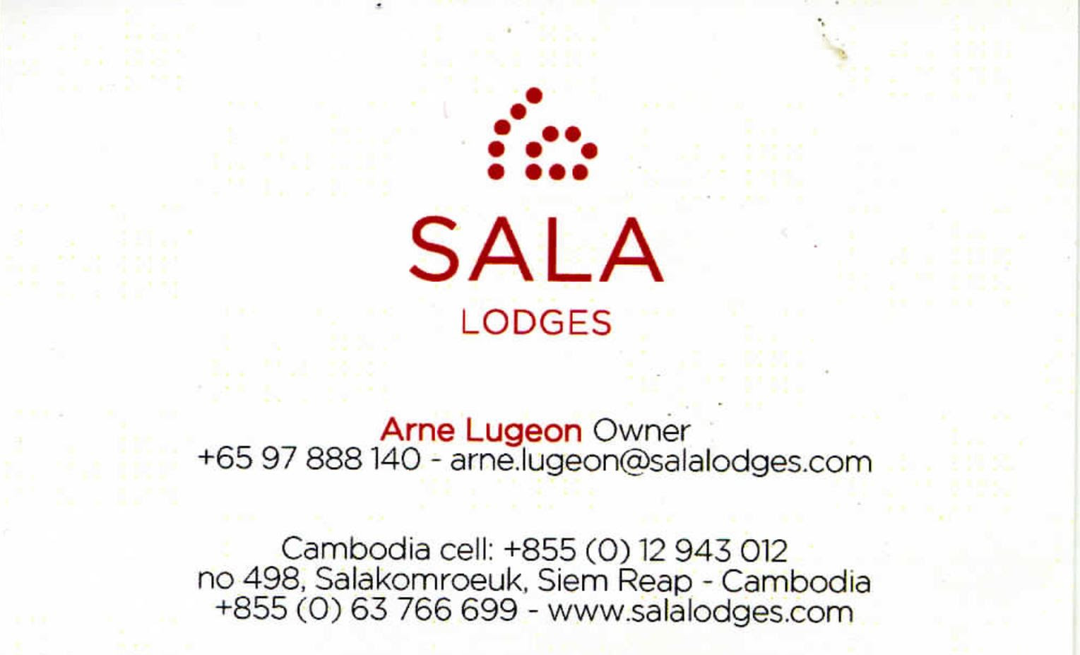 Sala Lodges, Arne Lugeon, Owner