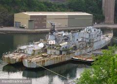 Navires militaires en fin de vie : les ex Détroyat et EV Henri à Brest