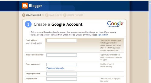 Create a google account