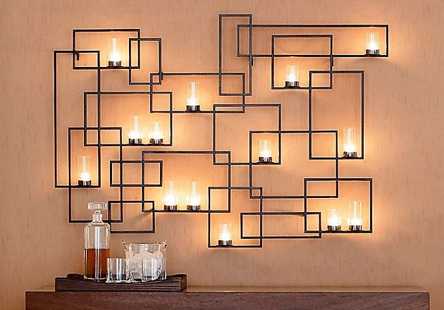 Delightful Wrought Iron Candle Holder To Add Interior Decoration  15 Chic Wrought Iron Wall Candle Holders You Will Admire