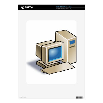 Retro Computer Skin For iPad