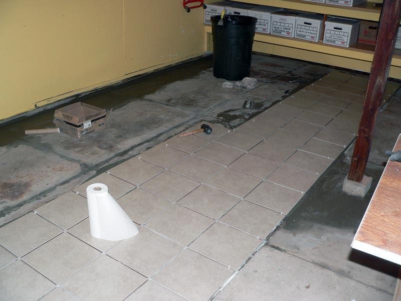 Garage: Fresh Concrete Tile Flooring For Garage Floor Tiles Design ...