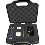 Casematix Portable Travel Projector Carry Hard Case w/ Dense Foam - Fits RIF6 Cube , UO Smart Beam Laser , Syhonic S8 , Amaz-play Mobile Pico Projecto