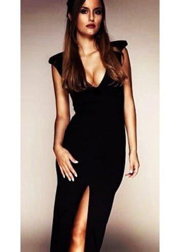 Maxi evening dress black