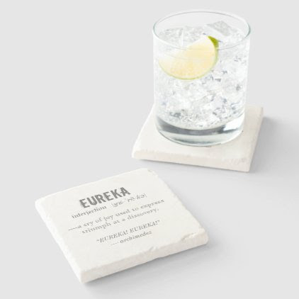 Eureka Definition Archimedes Greek Nerd Fraternity Stone Coaster