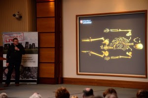Richard Buckley takes CA conference attendees through the discovery of Richard III's remains. Image: