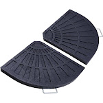 TheLAShop 2-Pack Outdoor Patio Offset Umbrella Sector Base Resin Stand